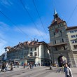 BERN, SWITZERLAND - FEBRUARY 27: in Barenplatz on a Sunny — Stock Photo