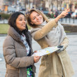Tourist with Map in Prague — Stock Photo