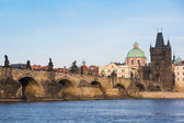Charles Bridge in Prague on a Sunny Day — Stock Photo
