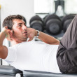 Man Doing Exercises for Abdominal — Stock Photo #25565597