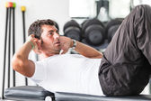 Man Doing Exercises for Abdominal — Stock Photo