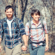 Young Couple Hiking in the Nature — Stock Photo