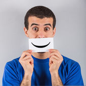 Young Man with Smile Emotion — Stock Photo