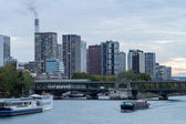 Seine and Modern Skyscrapers in Paris — Stock Photo