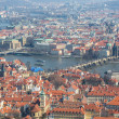 Panoramic view of Prague, Charles Bridge and Vltava — Stok Fotoğraf #25997921