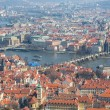 Stock Photo: Panoramic view of Prague, Charles Bridge and Vltava