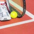 Tennis racket and ball — Stock Photo #26675471
