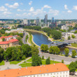Stock Photo: Aerial view of Vilnius from hill