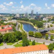 Aerial view of Vilnius from the hill — Stock Photo