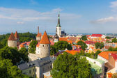 Panoramic view of Tallinn from the Castle — Стоковое фото