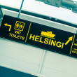 Boarding Sign at Tallinn Port — Stock Photo