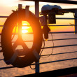 Life Buoy on a Cruise Ship — Stockfoto