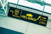 Boarding Sign at Tallinn Port — Stock Photo