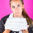Stock Photo: Housemaid Portrait