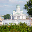 Lutheran Cathedral and Town Hall in Helsinki — Foto Stock