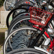 Lots of bicycles on a bicycle rack — Stock Photo #2777445