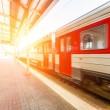 Stock Photo: Train at Station in Vilnius