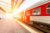 Train at Station in Vilnius — Stock Photo