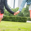 Lesbian Couple Holding Hands — Stock Photo