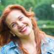 Beautiful Red Hair Woman Portrait — Stock Photo