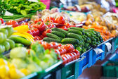 Fruits and Vegetables at City Market in Riga — Stock Photo
