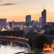 Vilnius Financial District at Sunset — Stock Photo