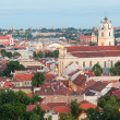 Panoramic View of Vilnius Old Town at Sunset — Stock Photo