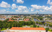 Aerial View of Vilnius with Financial District — Stock Photo