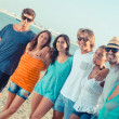 Multiethnic Group of Friends at Beach — Stock Photo #29719989