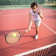 Young Man Playing Tennis — Photo