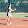 Young Woman Playing Tennis — Stock Photo #29893119