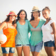 Multiethnic Group of Girls at Beach — Stock Photo #30107213