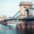 Chain Bridge in Budapest at Dusk — Stock Photo