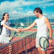 Tennis Players Giving Handshake — Stock Photo #30766237