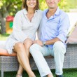 Smiling Mature Couple Outdoor — Stockfoto