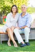 Smiling Mature Couple Outdoor — Stock Photo