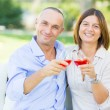 Mature Couple Having Aperitif Outdoor — Stock Photo #31212269