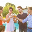 Group of Friends Toasting at Party — Stock Photo
