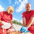 Rescue Team Providing First Aid — Stock Photo #31267305