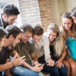 Group of Friends with Digital Tablet — Stock Photo
