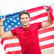 American Athlete with National Flag — Stock Photo #31488229