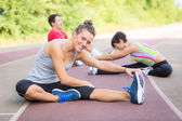 Group of People doing Stretching Exercises — Stock Photo