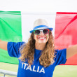 ItaliGirl Supporter at Stadium — Stock Photo #31507089