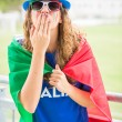 ItaliGirl Supporter at Stadium — Stock Photo #31510997