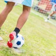 Stock Photo: Soccer Penalty Kick