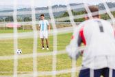Soccer Penalty Kick — Stok fotoğraf