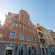 RIGA, LATVIA - JUNE 21: Typical Houses in one of main squares of — Stock Photo