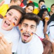 German Supporters at Stadium — Stock Photo