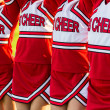 Stock Photo: Group of Cheerleaders in a Row