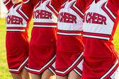 Group of Cheerleaders in a Row — Stock Photo